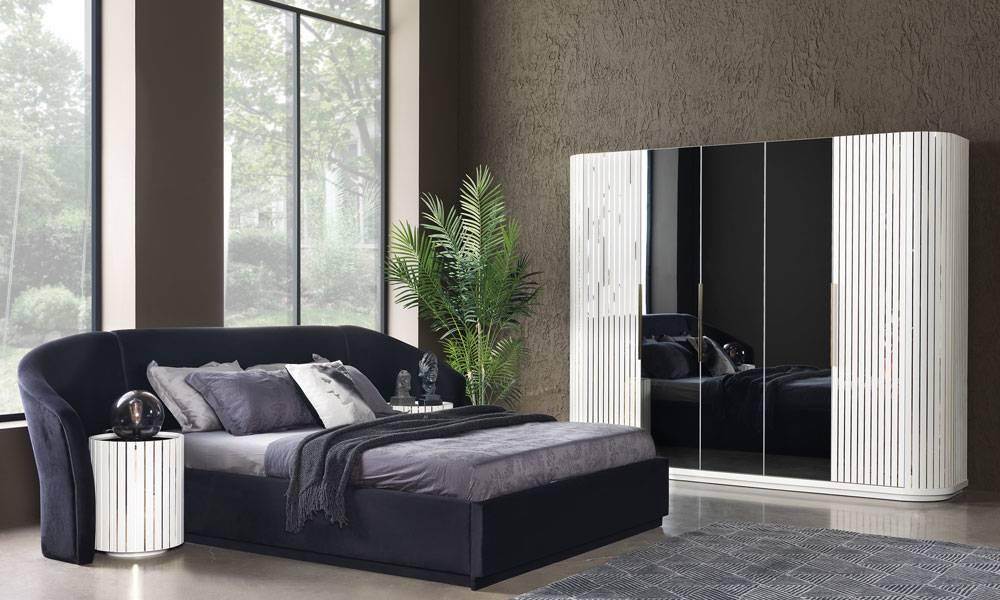 Alyans Beyaz Modern Yatak Odası Takımı