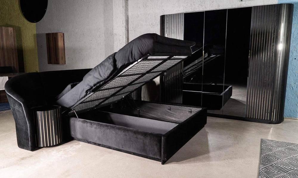 Alyans Siyah Modern Yatak Odası Takımı
