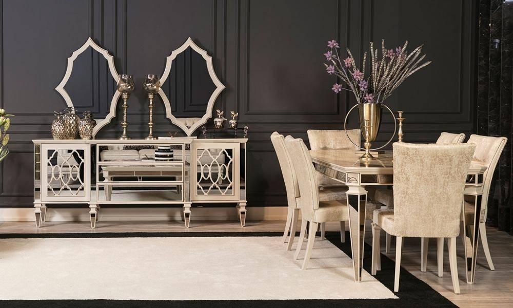 Anemon Art Deco Yemek Odası Takımı