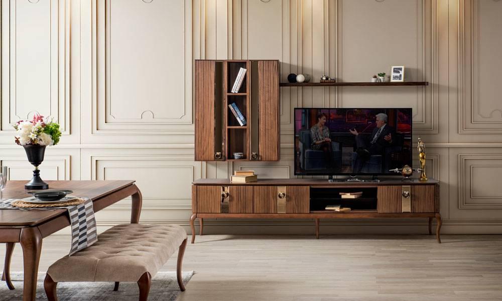 Bellac Ceviz Modern Tv Ünitesi