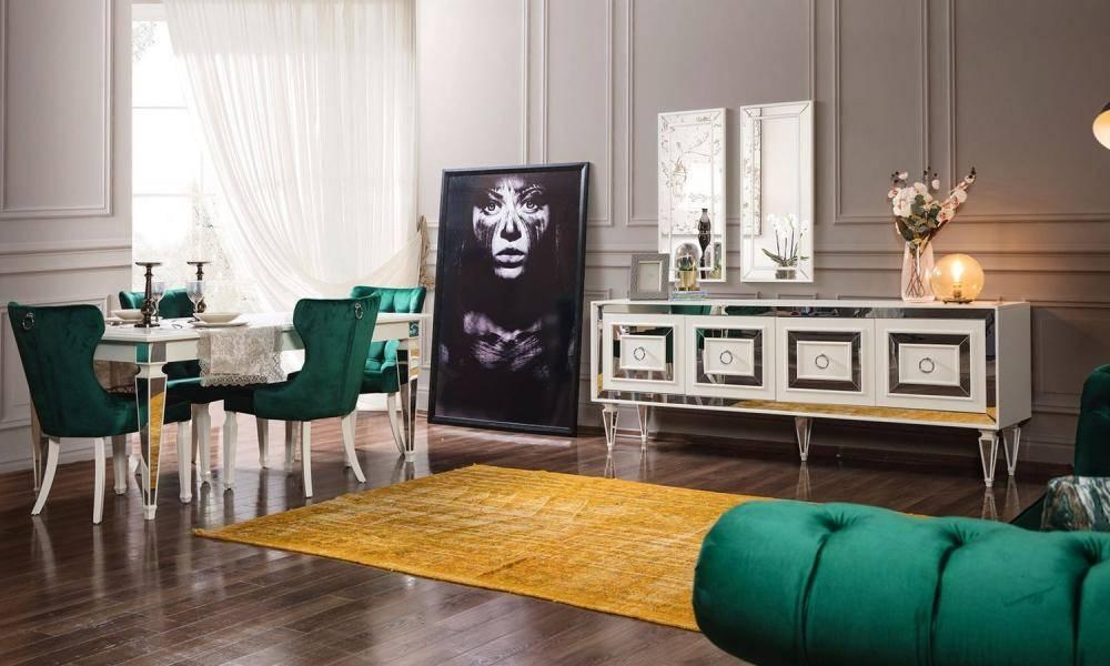 Bianco Art Deco Yemek Odası Takımı