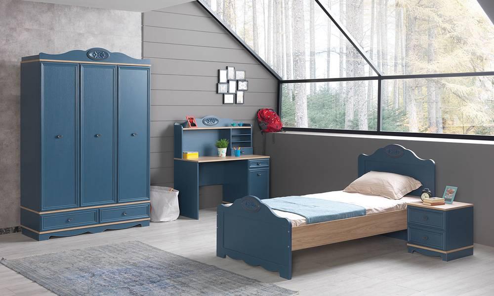 Blue Modern Genç Odası Takımı