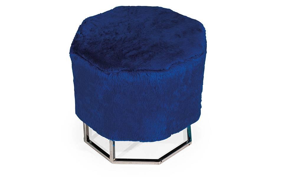 Blue Modern Puf