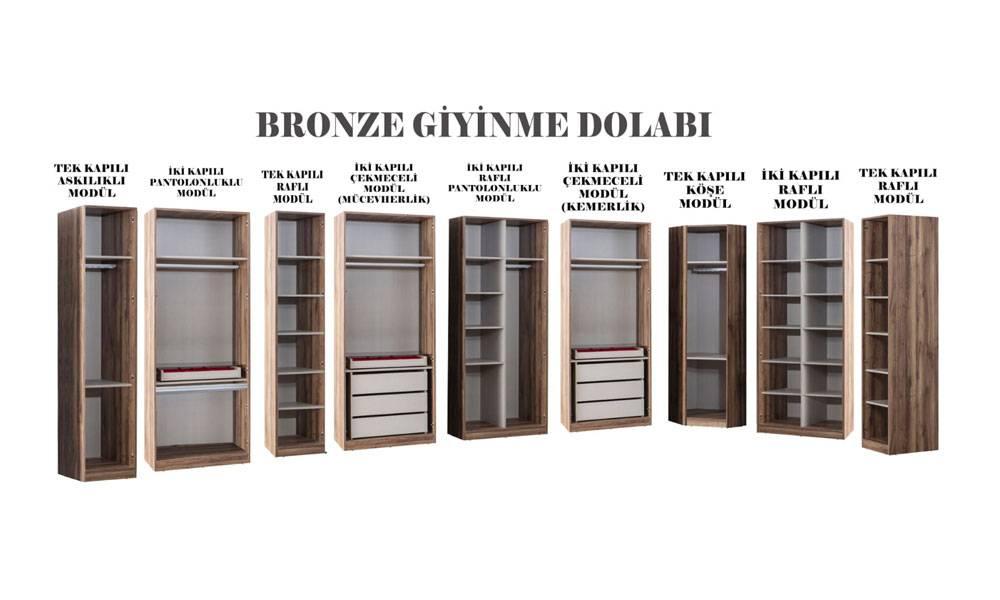 Bronze Modern Yatak Odası Takımı