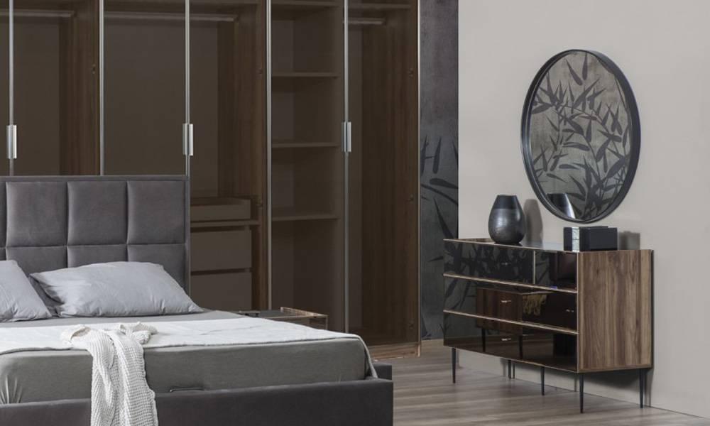 Bronze Şifonyer ve Aynası