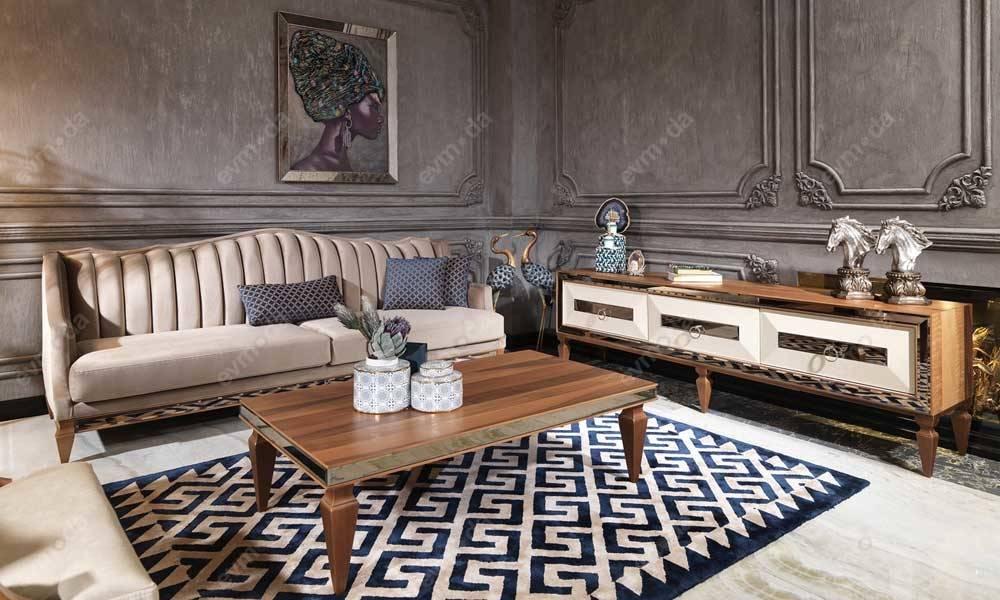 Bugatti Ceviz Art Deco Tv Ünitesi