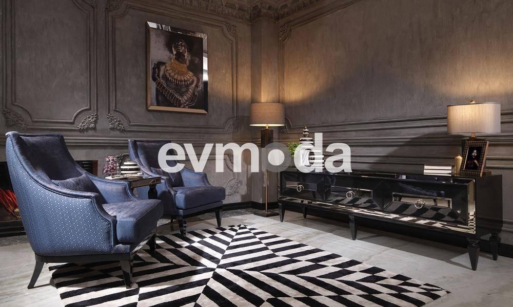 Bugatti Siyah Art Deco Tv Ünitesi