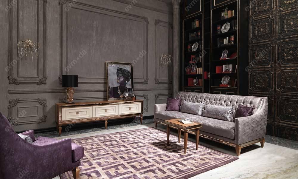 Carmen Ceviz Art Deco Tv Ünitesi
