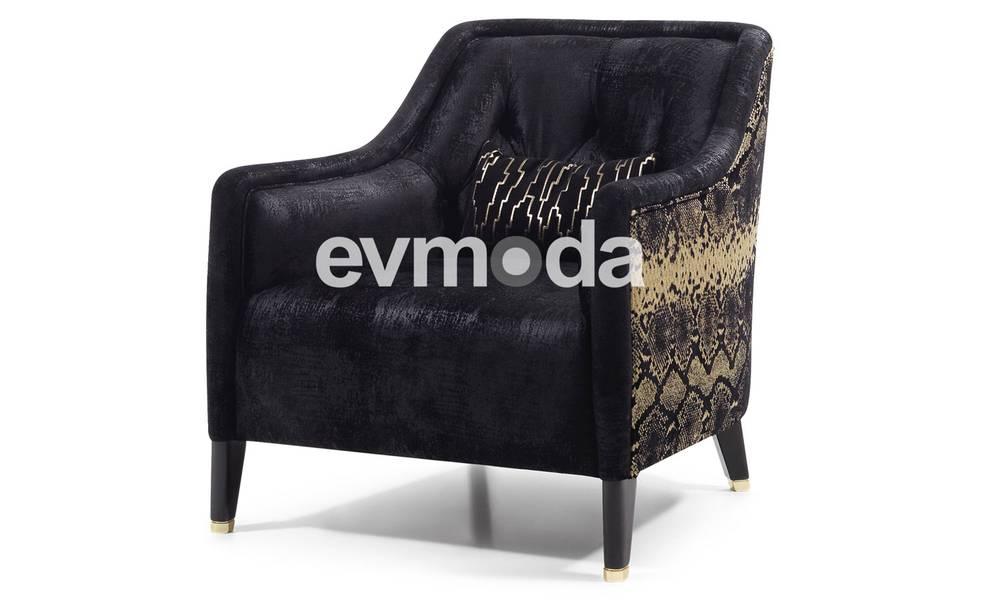 Cavalli Siyah Art Deco Berjer
