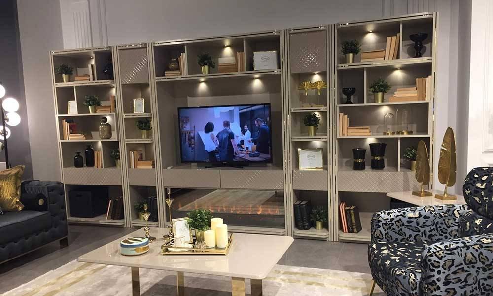 Dorya Modern Şömineli Tv Ünitesi
