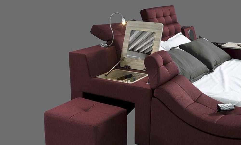 Dream Masajlı Bordo Modern Karyola