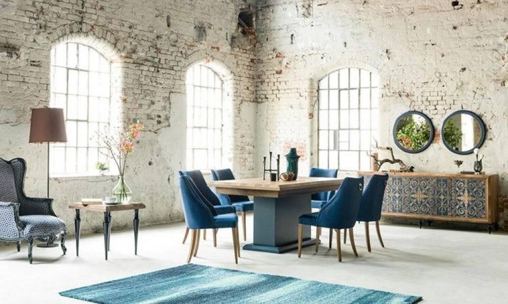 Dream Mavi Modern Yemek Odası Takımı