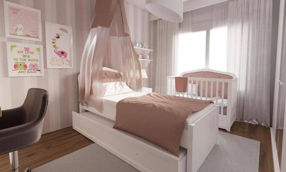 Modern Genç Kız Odası Projemiz