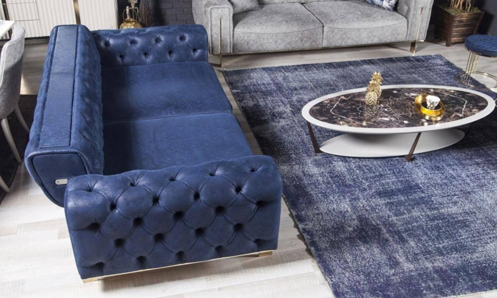 Gold Mavi Modern Koltuk Takımı