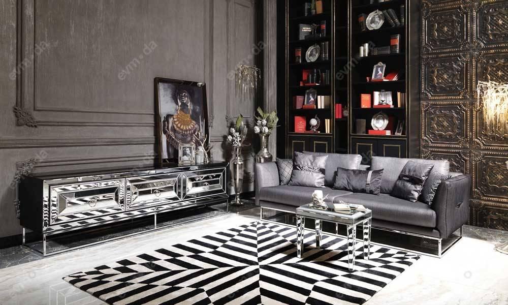 Gucci Black Silver Tv Ünitesi