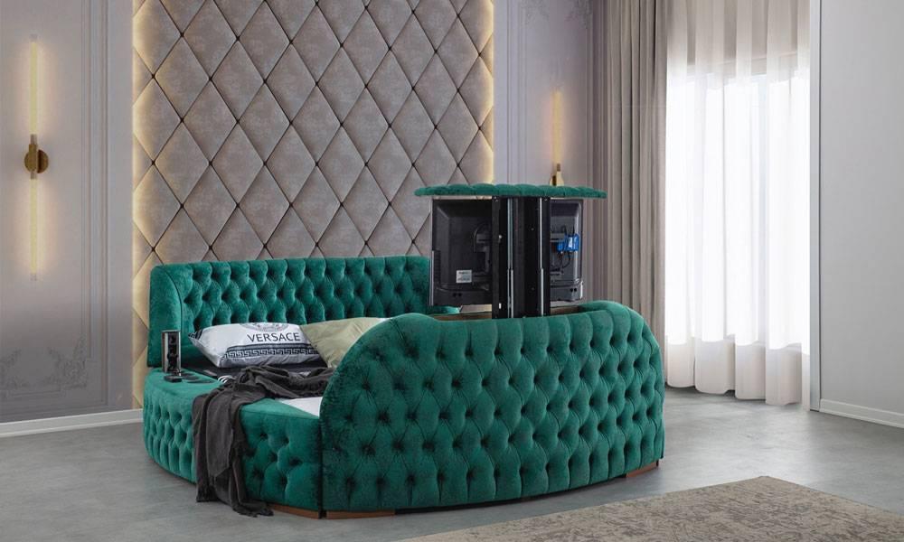 Hermes Tv Mekanizmalı Modern Karyola