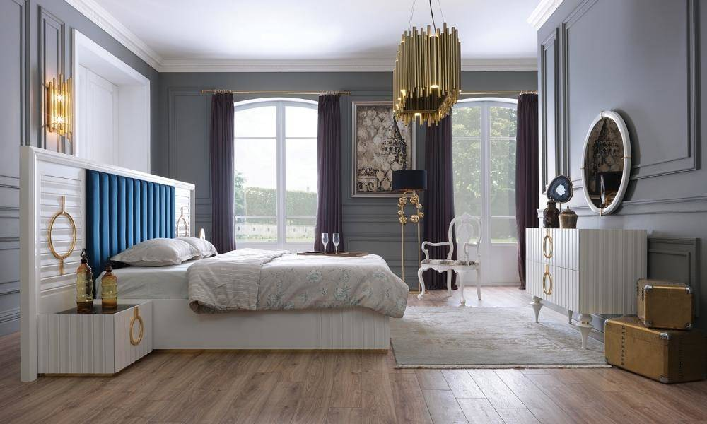 Lora Beyaz Modern Yatak Odası Takımı