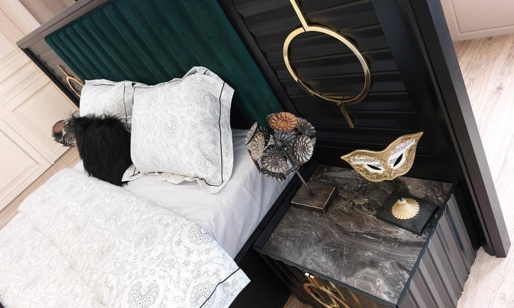 Lora Black Modern Yatak Odası Takımı