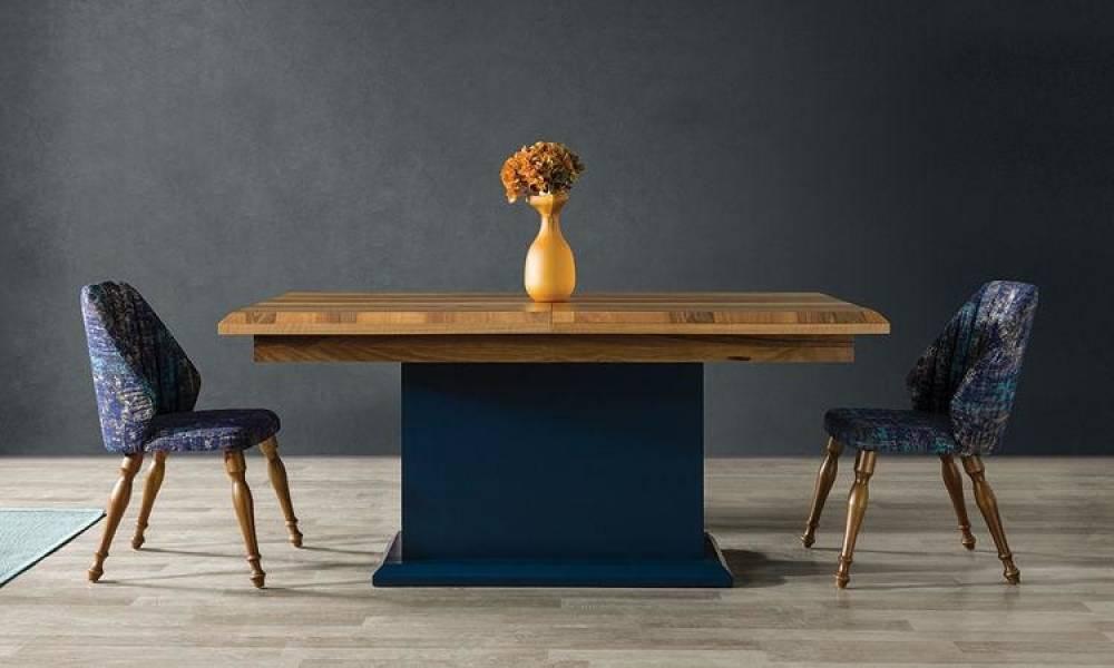 Maria Mavi Modern Yemek Odası Takımı