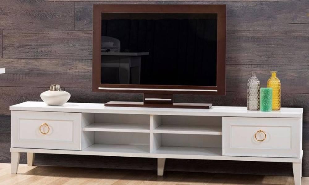 Melis Beyaz Modern Tv Ünitesi