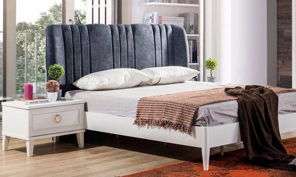 Melis Beyaz Modern Yatak Odası Takımı