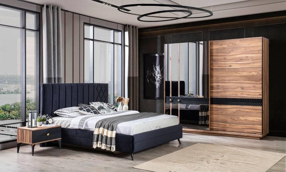 Milano Ceviz Modern Yatak Odası Takımı