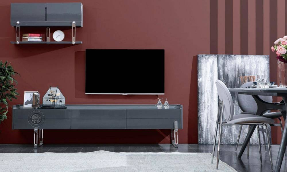 Plain Natural Modern Tv Ünitesi