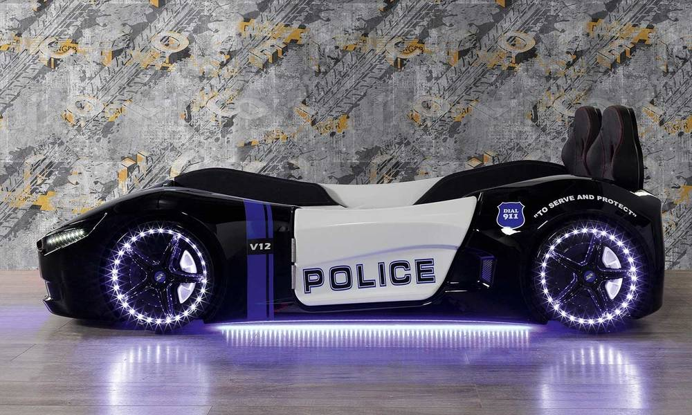 Police Çocuk Araba Karyola