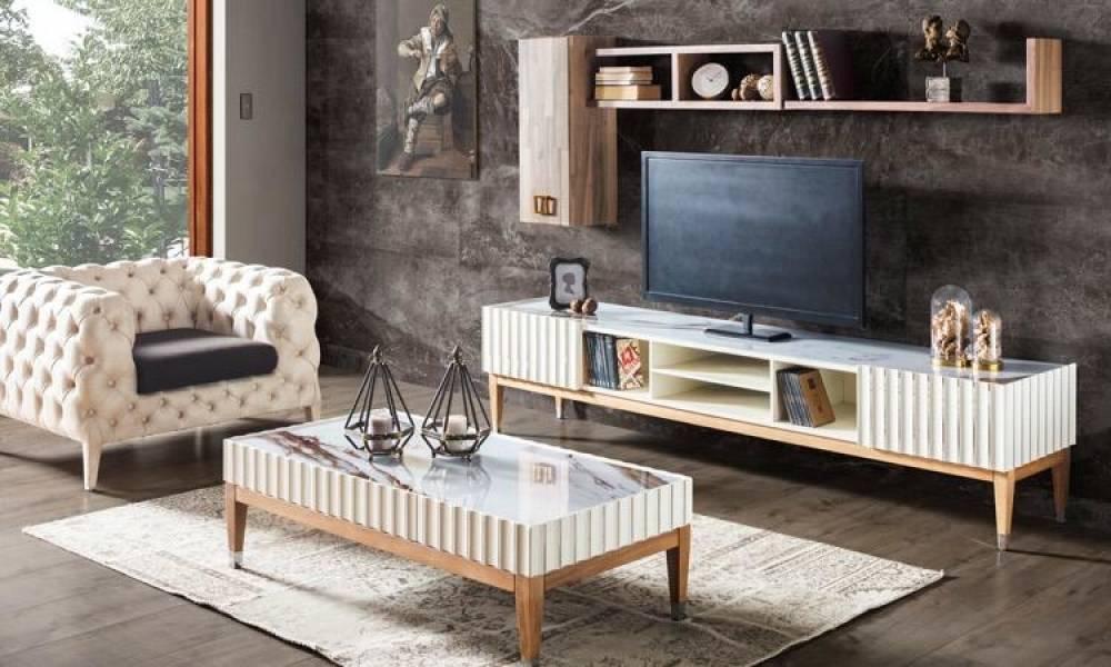 Prada Ekru Modern TV Ünitesi