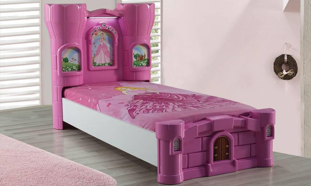 Princess Castle Pembe Karyola