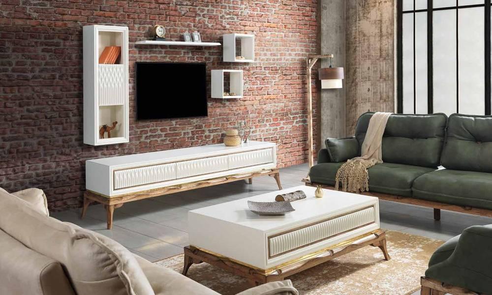 Quatro Beyaz Modern Tv Ünitesi