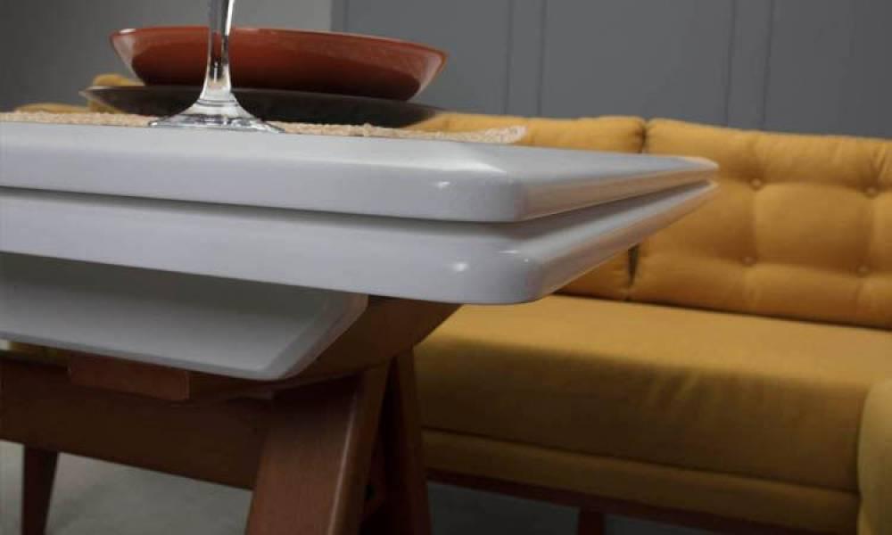 Rio Sarı Mutfak Masası Takımı