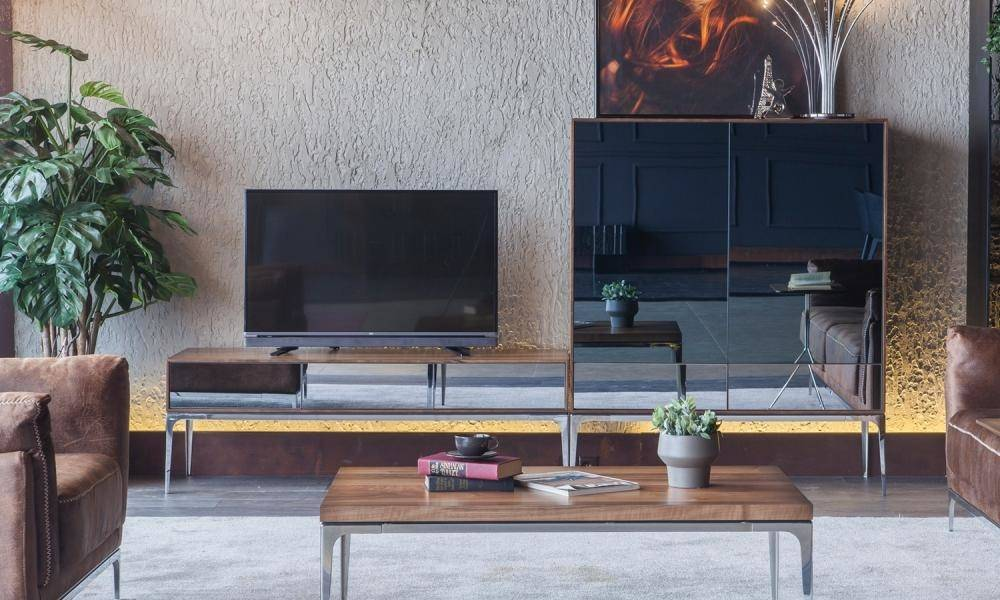 Silver Modern Tv Ünitesi