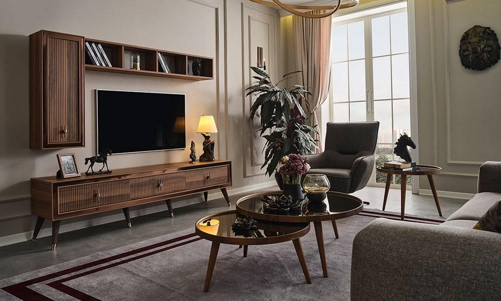 Toprak Ceviz Modern Tv Ünitesi