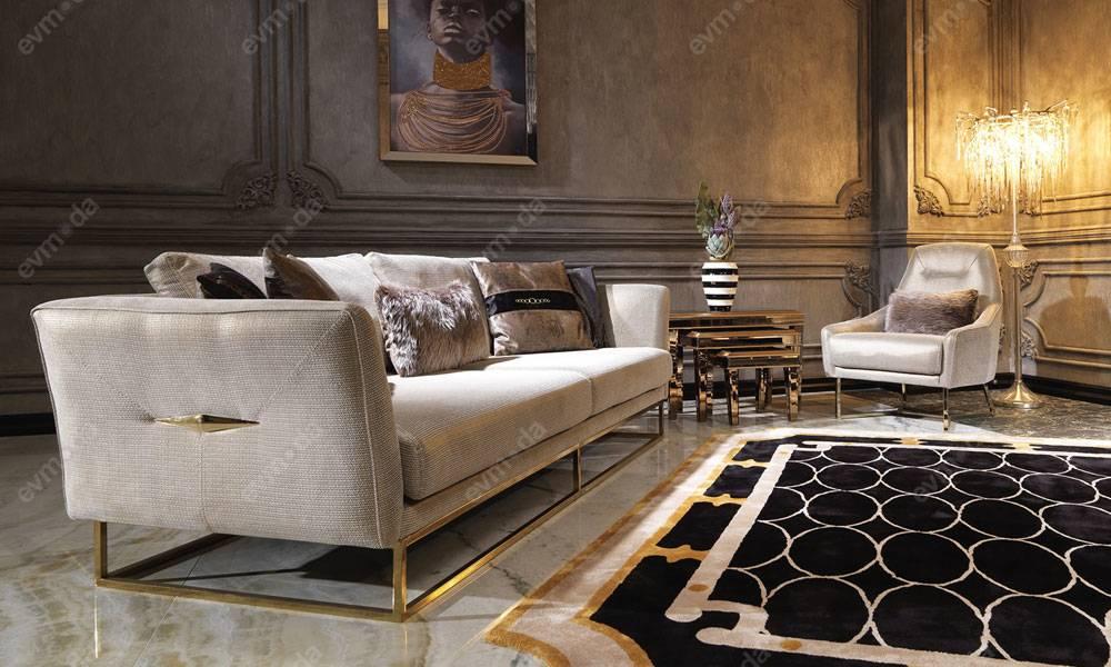 Versace Gold Modern Koltuk Takımı