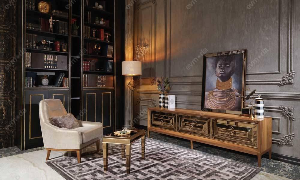 Versace Gold Art Deco Tv Ünitesi