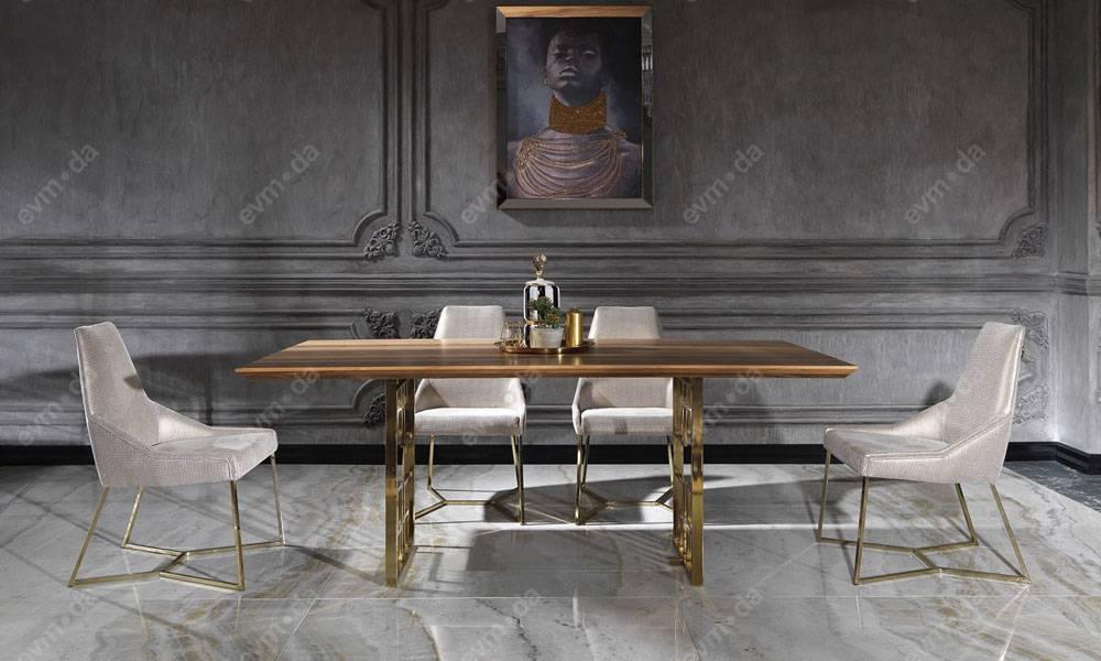 Versace Gold Yemek Odası Takımı