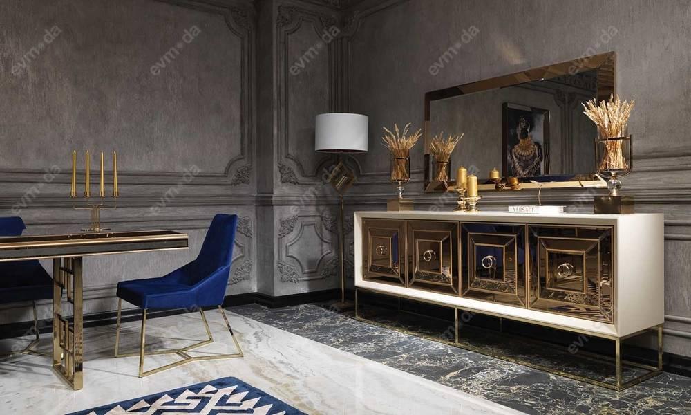 Versace Modern Yemek Odası Takımı