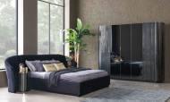 Alyans Siyah Modern Yatak Odası Takımı - Thumbnail
