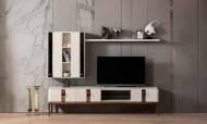 Bellac Ekru Modern Tv Ünitesi - Thumbnail