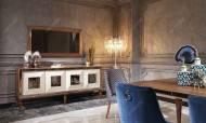 Bugatti Ceviz Art Deco Yemek Odası Takımı - Thumbnail