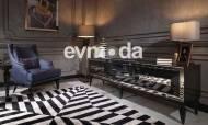 Bugatti Siyah Art Deco Tv Ünitesi - Thumbnail