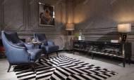 Bugatti Siyah Art Deco Koltuk Takımı - Thumbnail