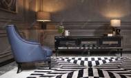 Bugatti Siyah Art Deco Yemek Odası Takımı - Thumbnail
