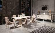 Carmen Krem Art Deco Yemek Odası Takımı - Thumbnail