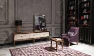 Carmen Ceviz Art Deco Tv Ünitesi - Thumbnail