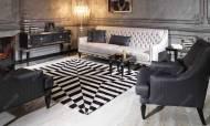Carmen Siyah Art Deco Koltuk Takımı - Thumbnail