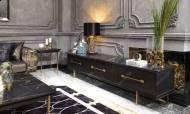 Cavalli Siyah Art Deco Tv Ünitesi - Thumbnail