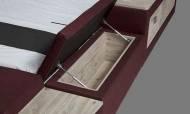 Dream Masajlı Bordo Modern Karyola - Thumbnail