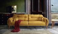 Escalade Sarı Modern Koltuk Takımı - Thumbnail